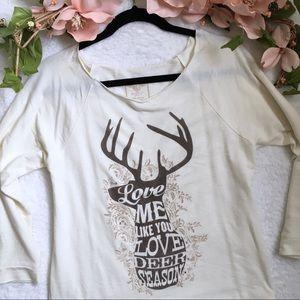 🦌💕 love me like you love deer season tee